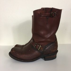 Frye Brown Leather Limited Edition Engineer Boots